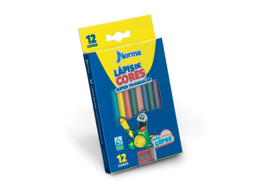 SUPER TRIANGULAR COLOR PENCIL - 12 COLOR